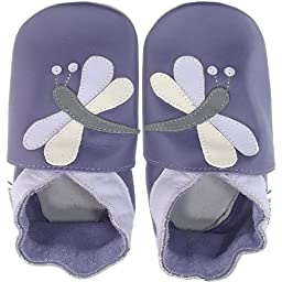Bobux Leather Baby Shoes - Purple Dragonfly - Medium 9-15 Months