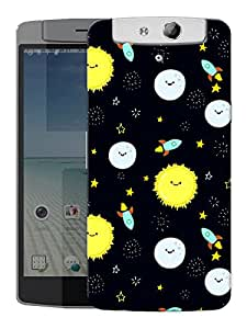 """Humor Gang Sun Moon And Infinity Printed Designer Mobile Back Cover For """"Oppo N1"""" (3D, Matte, Premium Quality Snap On Case)"""