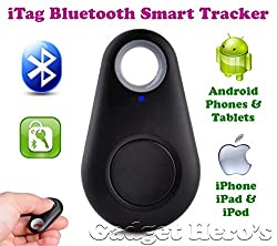 Gadget Heros iTag Bluetooth Tracer Anti-Lost Alarm Remote Shutter Voice Recorder GPS Tracker Black. Key Finder Locator Alarm For IOS iPhone Android.