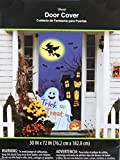 Ghost and Witch Halloween Door Cover - Wall Decoration