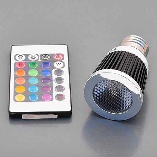 LEDwholesalers 5 Watt Hi-Power RGB Color Changing