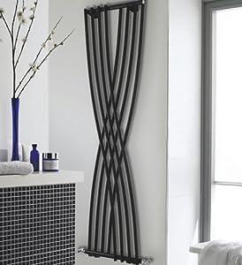 Hlb94 radiateur design en acier vertical laqu noir xcite 1775 x 450mm 84 - Radiateur chauffage central vertical design ...