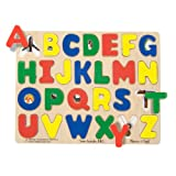 Melissa and Doug Large Wooden See Inside ABC Puzzle, 26-Piece