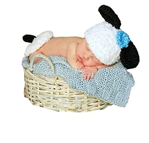 Pinbo Newborn Baby Photography Prop Crochet Sheep Hat Cape