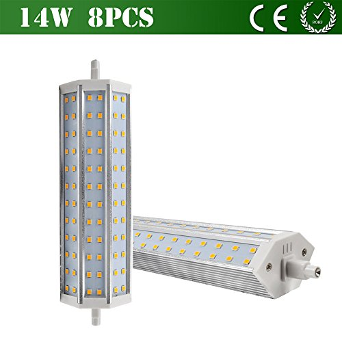 Vlunt 8X R7S Led Light 6W 9W 14W 2835 Smd Warm White Replacement For Halogen Flood Light Energy Saving Corn Lamp