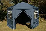 Airwave 3.5mtr Pop Up Gazebo HEXAGONAL Blue Fully Waterproof with Six Sides and CarryBag