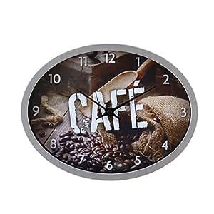 Pendule de cuisine gris cuisine maison for Pendule de cuisine amazon