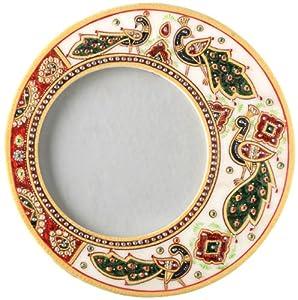 Aapno Rajasthan Kundan Work Marble Peacock Photo Frame (22.86 cm x 22.86 cm)