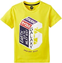 Reve Boy's T-Shirt (RSWTSH03-S2_Yellow_2)