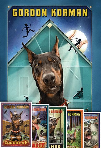 Swindle 6 (Six) Paperback Book Set, by Gordon Korman Includes Swindle, Zoobreak, Framed, Showoff, Hideout, & Jackpot