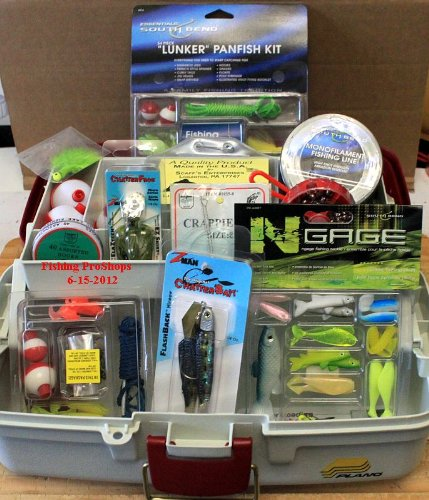 Plano Single Tray Tackle Box - W/Mega 250 Piece Tackle Kits Included!