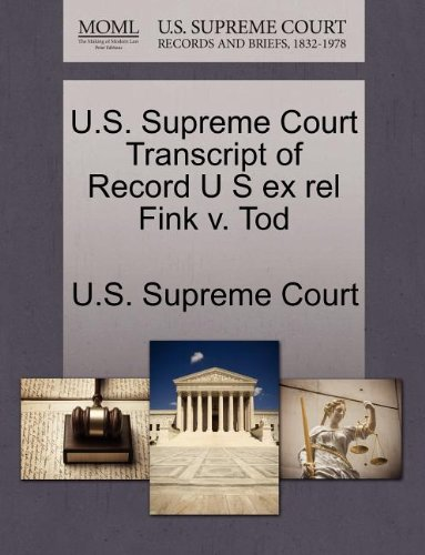 U.S. Supreme Court Transcript of Record U S Ex