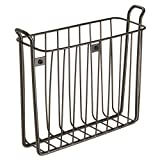 InterDesign Classico Wall Mount Magazine Rack, Bronze