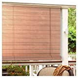 Lewis Hyman 0322086 Roll Up Blind, Woodgrain PVC, 96 x 72-In. - Quantity 6
