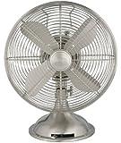 """Hunter 90400 12"""" Metal Fan, Brushed Nickel Finish (Table Fan, Portable Fan)"""