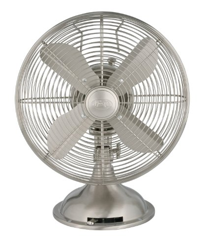 Find Bargain Hunter 90400 12 Metal Fan, Brushed Nickel Finish