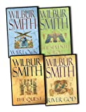 Wilbur Smith Wilbur Smith Ancient Egypt 4 Books Collection Pack Set RRP: £31.96 (The Seventh Scroll, River God, The Quest, Warlock)