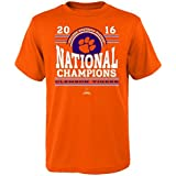 NCAA Clemson Tigers Boys National Champs Curve Nation Short Sleeve Teenational Champs Curve Nation Short Sleeve Tee, Orange, S(8)