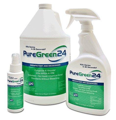 PureGreen24 antibacterial antiviral and antifungal green disinfectant 1 gallon Pure Green 24