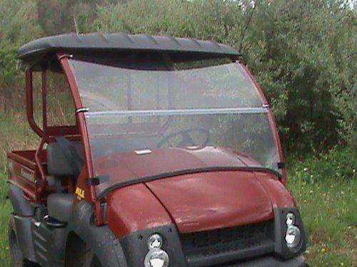 Kawasaki 610 Mule Clear Fold up Front Windshield