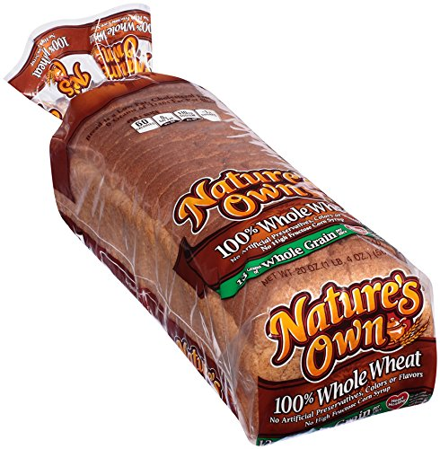 Loaf of Nature's Own Whole Wheat Bread (Whole Grain Bread compare prices)
