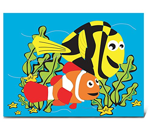 Puzzled Aquatic Fish Wooden Fun Puzzle