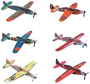 "Rhode Island Novelty 8"" Flying Glider Plane Set"
