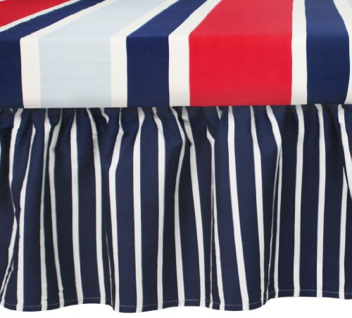 Navy And White Baby Bedding 7109 front