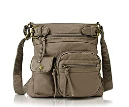 Scarleton Accent Top Belt Crossbody Bag H183314 - Khaki