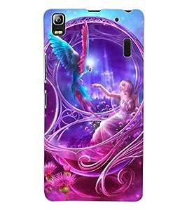 ColourCraft Beautiful Angel Design Back Case Cover for LENOVO A7000