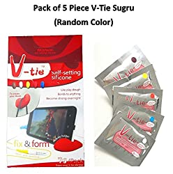 V Tie Sugru 5 piece 7g / pack Heatproof Fix&Form Multi Color Silicone Rubber Glue Silicone Silica Gel Adhesive Sealant For Repair (Random Color)