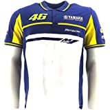 Valentino Rossi M1 Yamaha Factory Racing Team Moto GP Polo Shirt officiel Neuf