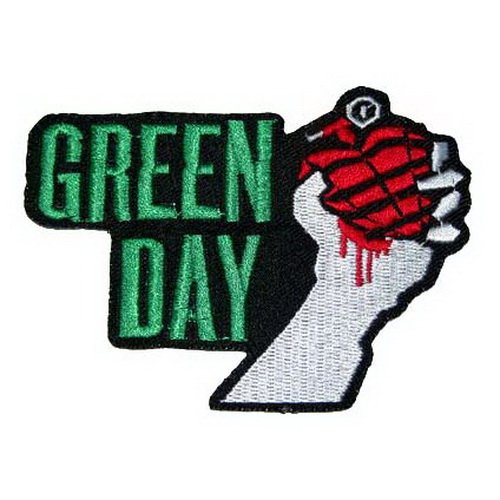 Green day embroidered iron on patch sew logo clothes