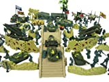 150+ Army Military Play Set Soldiers Missiles Trucks Planes Blockade Walls!