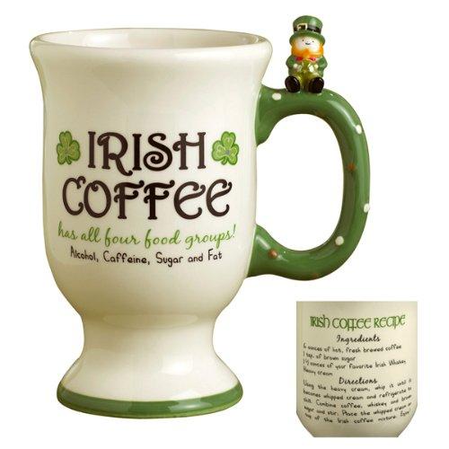Grasslands Road So Lucky Celtic Leprechaun Shamrocks Sentiment And Irish Coffee Recipe Mug