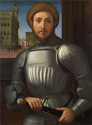 ['Francesco Granacci Portrait Of A Man In Armour ' Oil Painting, 16 X 22 Inch / 41 X 55 Cm ,printed On High Quality Polyster Canvas ,this Best Price Art Decorative Prints On Canvas Is Perfectly Suitalbe For Gift For Relatives And Home Artwork And] (Kangaroo Costume Rental)