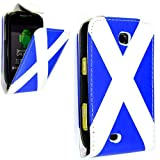 PU Leather Flip Case For SAMSUNG GALAXY MINI GT-S5570 S5570 VARIOUS DESIGNS + STYLUS PEN (SCOTLAND FLAG FLIP)