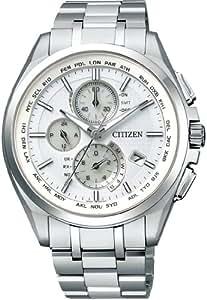 [シチズン]CITIZEN 腕時計 ATTESA アテッサ Eco-Drive エコ・ドライブ 電波時計 ダイレクトフライト 針表示式 薄型 AT8040-57A メンズ
