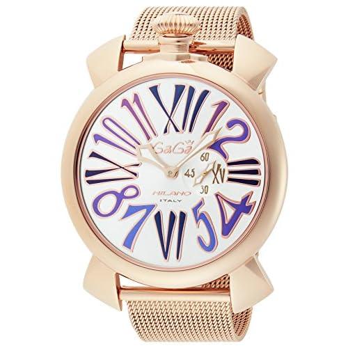 [ガガミラノ]GaGa MILANO 腕時計 スリム46mm シルバー文字盤 ステンレス(PGPVD)ケース ステンレス(PGPVD)ベルト 5081.3 メンズ 【並行輸入品】