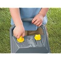 Child controlling bubble flow of bubble lawn mower