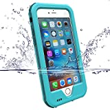 Zvedeng iphone 6s waterproof case Shockproof Durable Full Protection Case Cover Full-Body Rugged [Water resistant/Dirt/Shockproof] Case for Apple iPhone 6/6s with 4.7 Inch screen [with Built-In Screen Protector ](Blue)