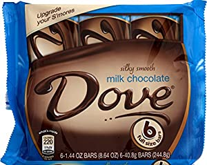 Dove Milk Multipack, Chocolate, 1.44 oz, 6 Count (Pack of 12)