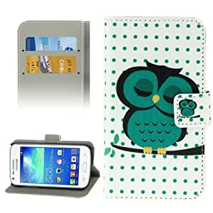 Crazy4Gadget Owl Pattern Leather Case with Holder & Card Slots & Wallet for Samsung Galaxy Core Plus / G3500