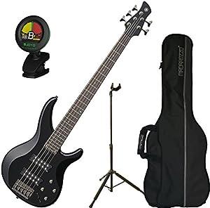 yamaha trbx305 bl trbx 305 black 5 string bass guitar w gig bag stand and tuner. Black Bedroom Furniture Sets. Home Design Ideas
