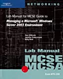 img - for 70-290: Lab Manual for MCSE / MCSA Guide to Managing a Microsoft Windows Server 2003 Environment book / textbook / text book