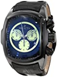 Invicta Men's 10285 Lupah Chronograph Black Dial Black Leather Watch