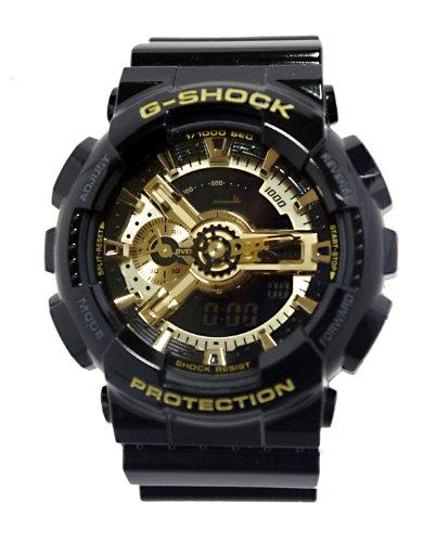 Men'S Black G-Shock Digital Anti-Magnetic Gold Tone Analog [Watch] Casio front-803277