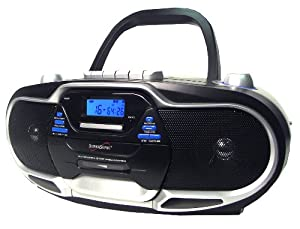 Supersonic SC744 CD Boombox with MP3 and Cassete Player (Discontinued by Manufacturer)