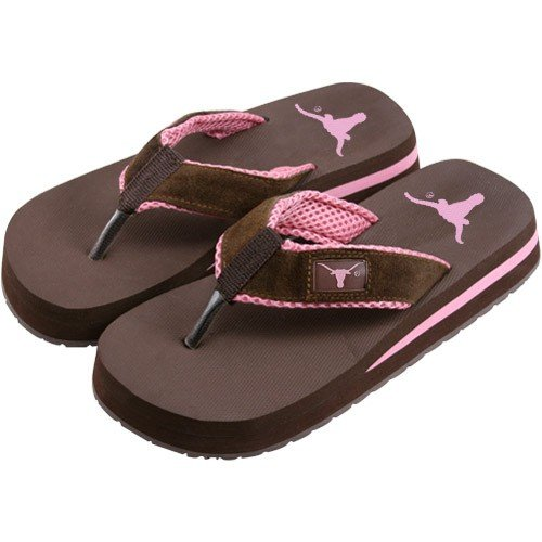 Cheap Texas Longhorns Two Tone Ladies Suede Flip Flops (B000RU61VK)