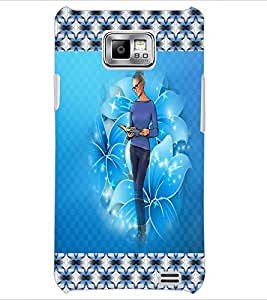 PrintDhaba Studious Girl D-4604 Back Case Cover for SAMSUNG GALAXY S2 (Multi-Coloured)